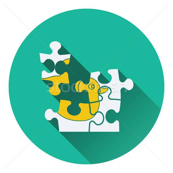 Baby puzzle icon Stock photo © angelp