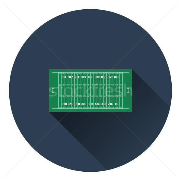 Foto stock: Americano · campo · de · fútbol · icono · color · diseno