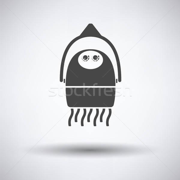 фен икона серый волос фон черный Сток-фото © angelp