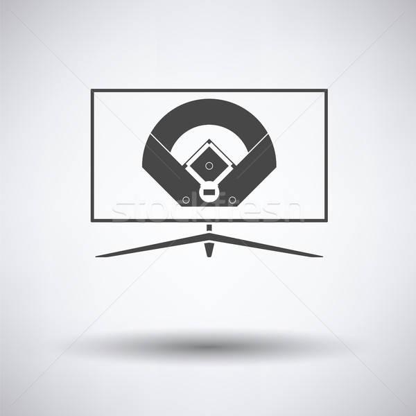 Baseball tv traduzione icona grigio primavera Foto d'archivio © angelp