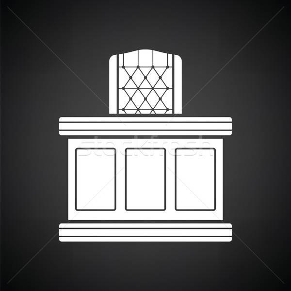 裁判官 表 アイコン 黒白 オフィス ルーム ストックフォト © angelp