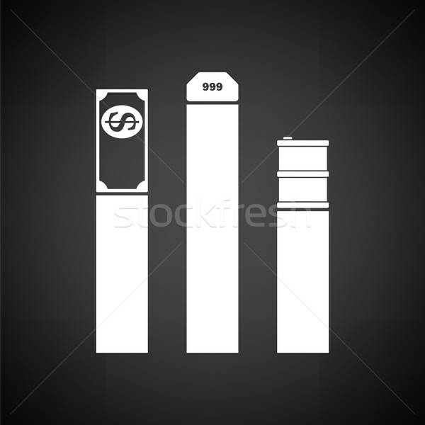 Oil, dollar and gold chart concept icon Stock photo © angelp