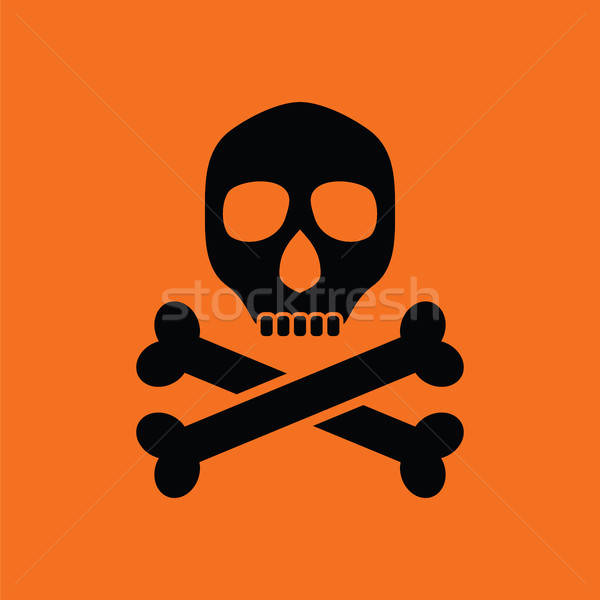 Veneno assinar ícone laranja preto corpo Foto stock © angelp
