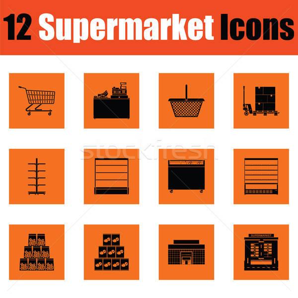 Supermarket icon set Stock photo © angelp