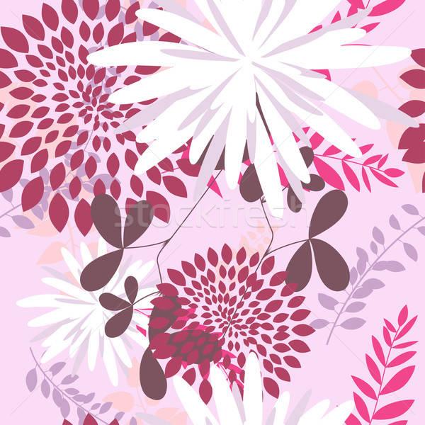 Bezszwowy kwiatowy wektora łatwe Zdjęcia stock © angelp