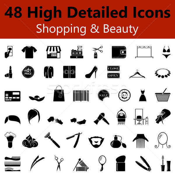 Shopping and Beauty Smooth Icons  Stock photo © angelp