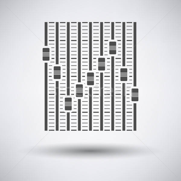 Música ecualizador icono gris disco radio Foto stock © angelp