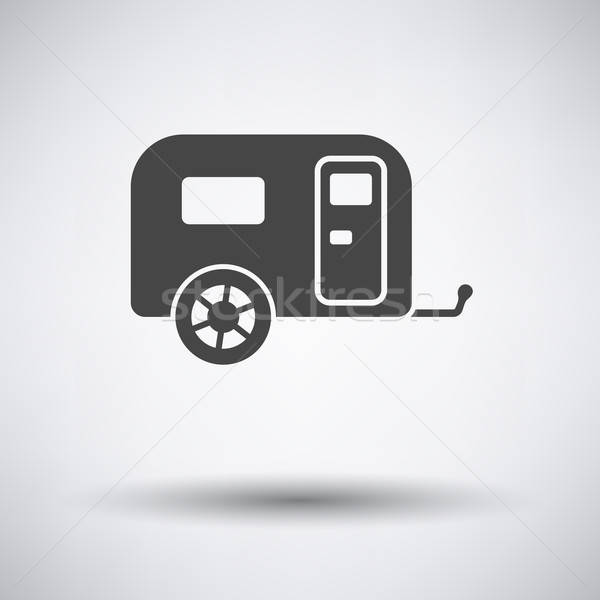 Camping family caravan car  icon  Stock photo © angelp