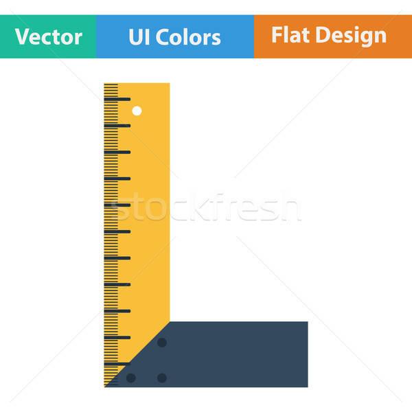 Projektu ikona ui kolory metal podpisania Zdjęcia stock © angelp