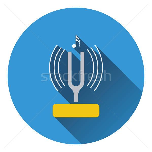 Tuning vork icon ontwerp achtergrond metaal Stockfoto © angelp