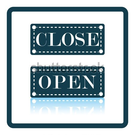 Shop door open and closed icon Stock photo © angelp