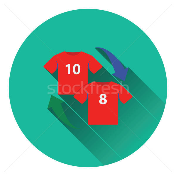 Icon of football replace  Stock photo © angelp