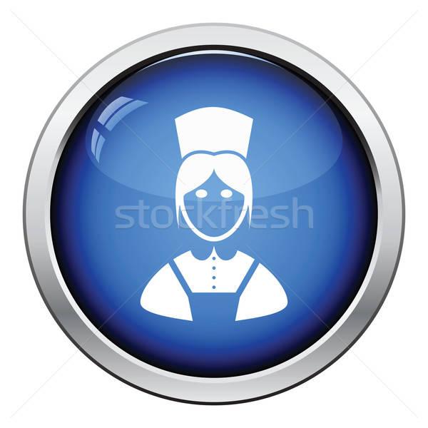 Hotel empregada ícone botão projeto Foto stock © angelp