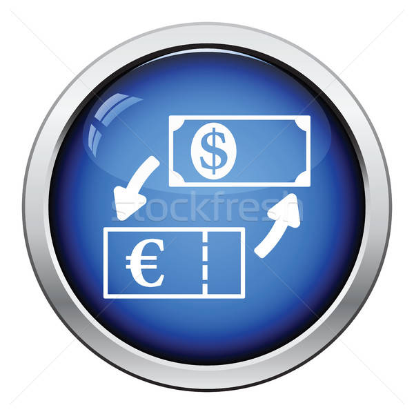Moneda dólar euros intercambio icono Foto stock © angelp