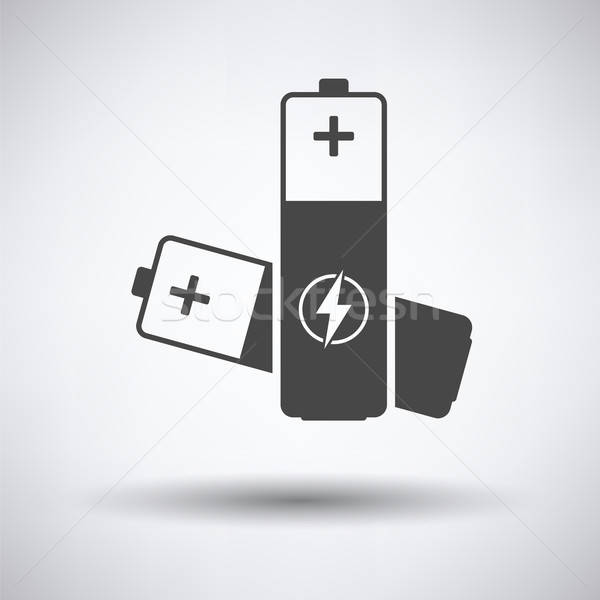 Elétrico bateria ícone cinza tecnologia arte Foto stock © angelp
