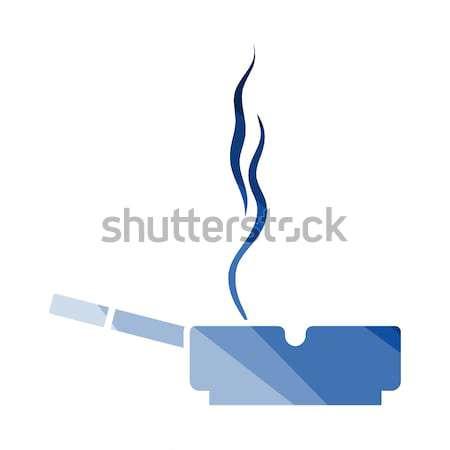 Cigarette in an ashtray icon Stock photo © angelp