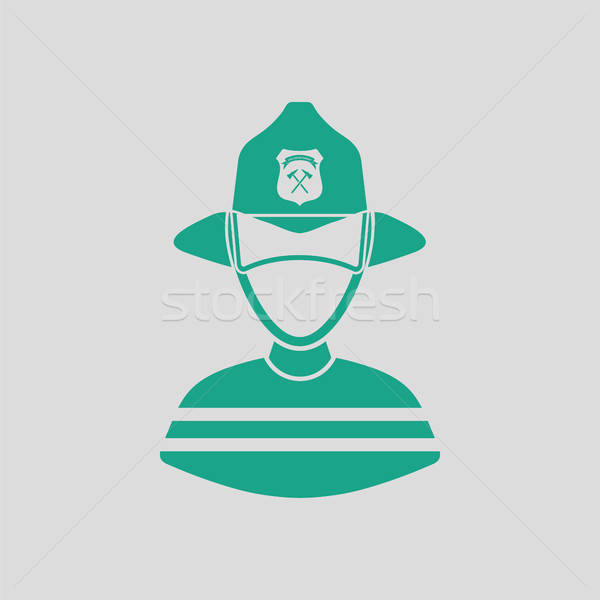 Fireman icon Stock photo © angelp