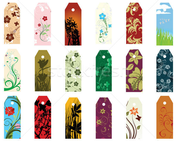 bookmarks set Stock photo © angelp