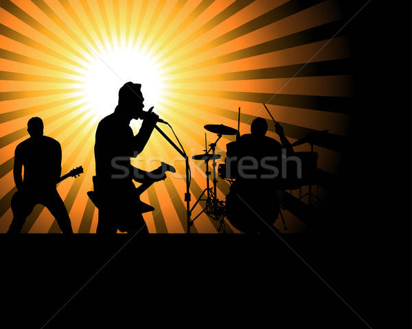 rock group Stock photo © angelp