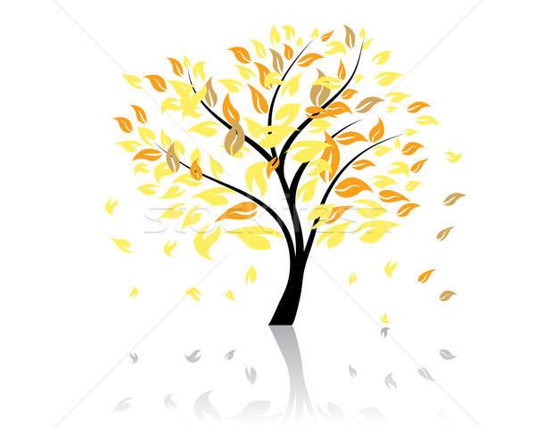 秋 ツリー 下がり 葉 コンピュータ 森林 ストックフォト © angelp