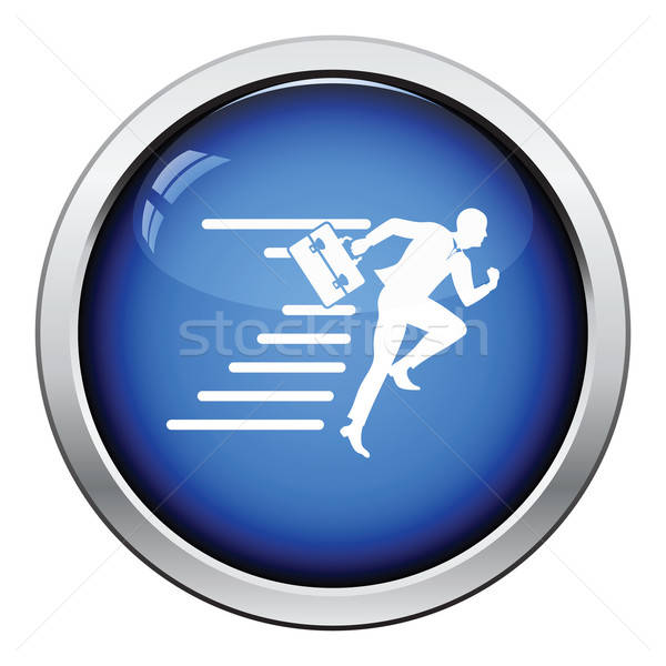 Accelerating businessman icon Stock photo © angelp
