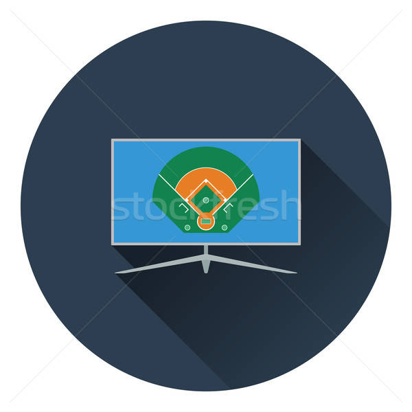 Baseball tv traduction icône couleur design Photo stock © angelp