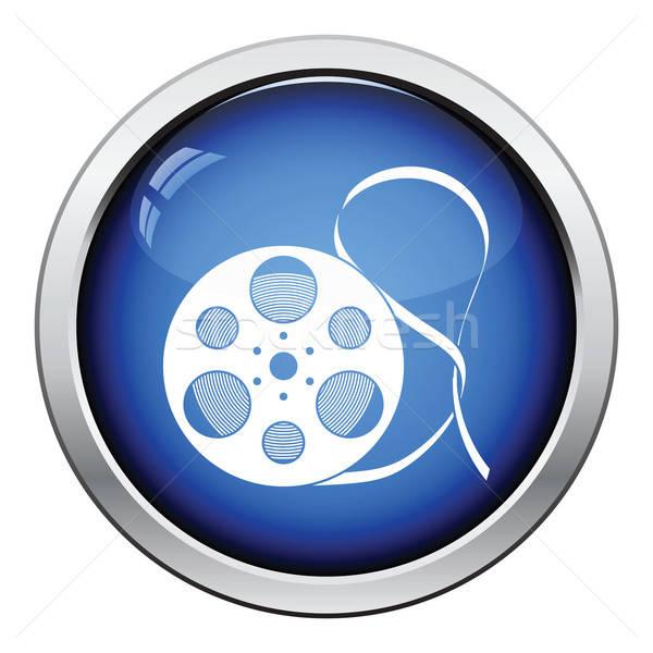 ストックフォト: 映画 · リール · アイコン · ボタン · デザイン