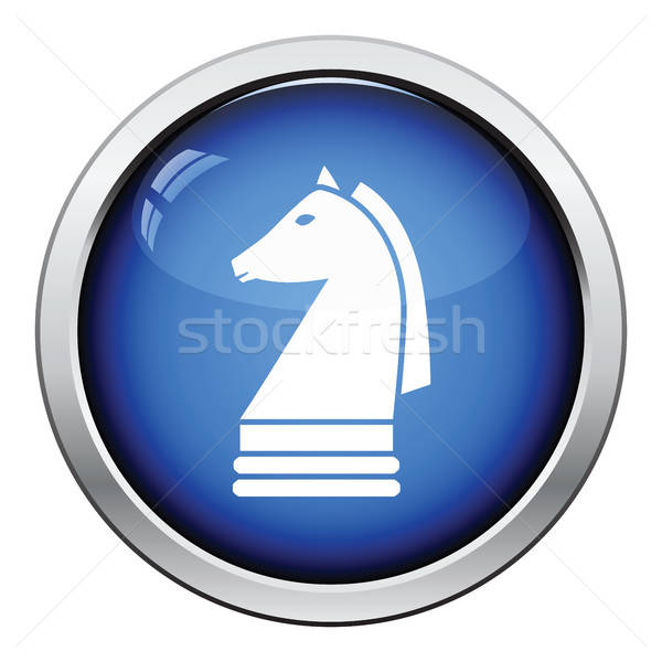 Chess horse icon Stock photo © angelp