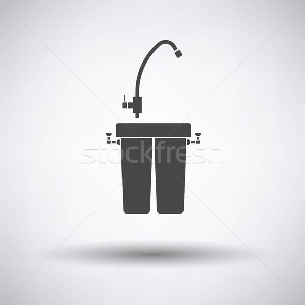 Wasser filtern Symbol grau Technologie Gesundheit Stock foto © angelp