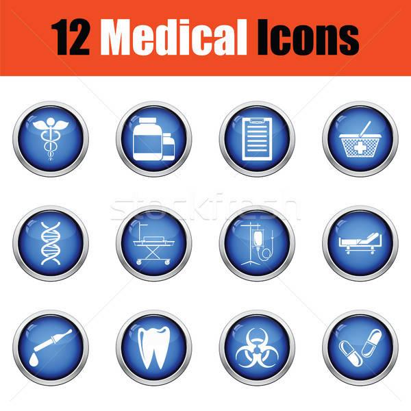 Medical icon set.  Stock photo © angelp