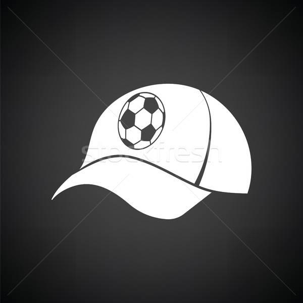 Football fans cap icône blanc noir heureux Photo stock © angelp