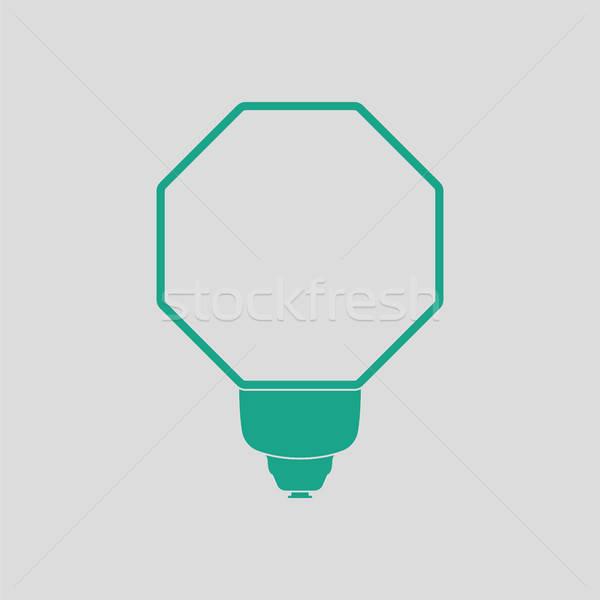 Ikon hordozható divat villanás szürke zöld Stock fotó © angelp