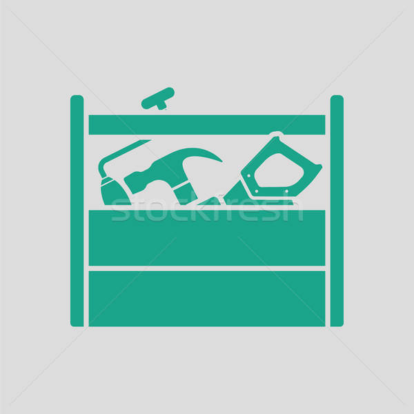 Retro tool box icon Stock photo © angelp