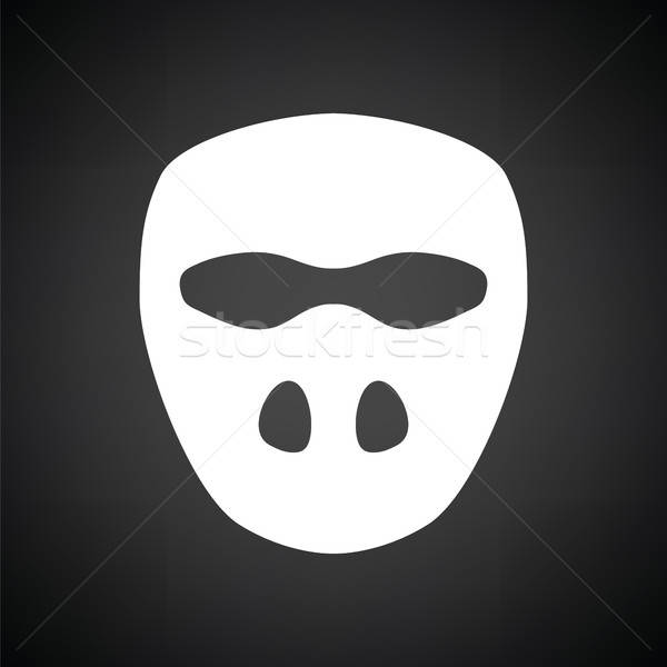 Cricket mask icon Stock photo © angelp