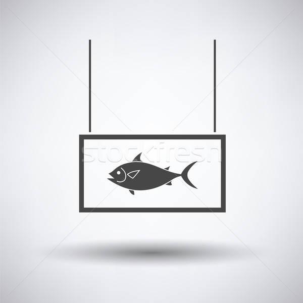 Fish market department icon Stock photo © angelp