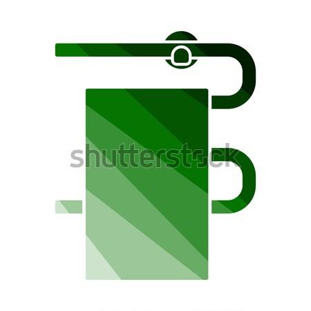 икона бурение стены цвета дизайна здании Сток-фото © angelp