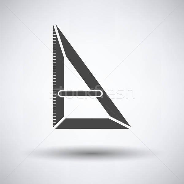 Triangle icon Stock photo © angelp