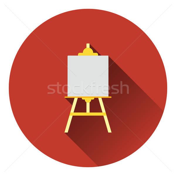 Schildersezel icon kleur ontwerp hout ruimte Stockfoto © angelp