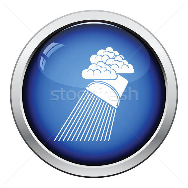 Rainfall like from bucket icon Stock photo © angelp