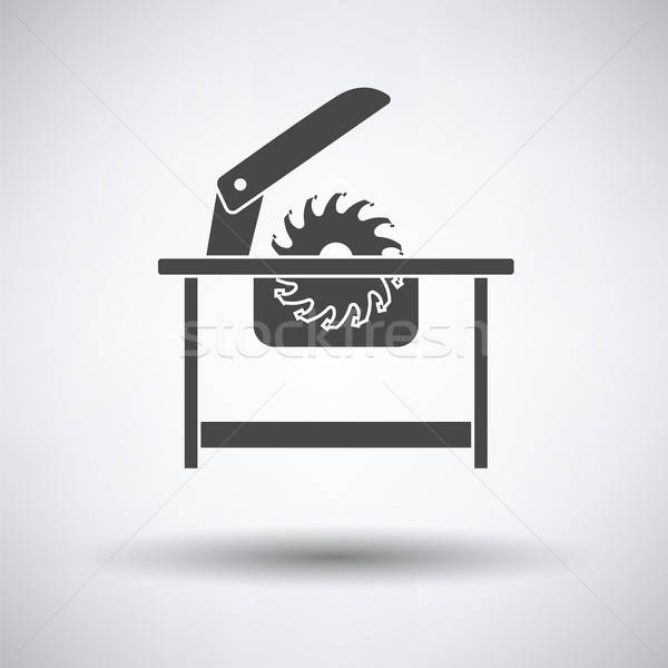 Zag icon grijs hout bouw Stockfoto © angelp