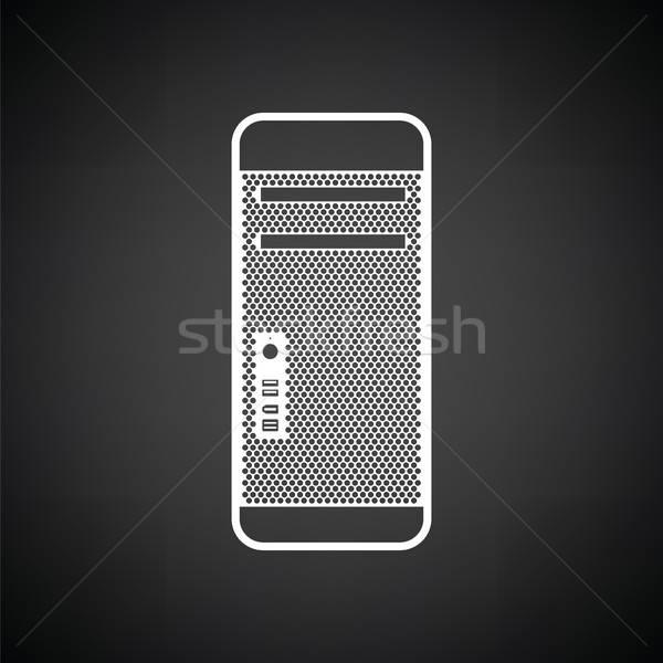 блок икона черно белые технологий сервер связи Сток-фото © angelp