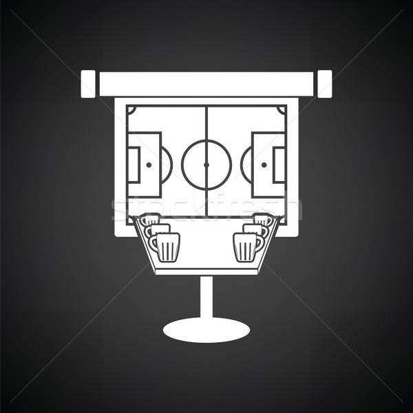 Esportes bar tabela cerveja futebol tradução Foto stock © angelp