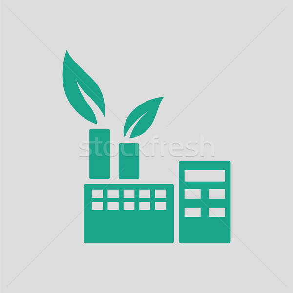 Ecological industrial plant icon Stock photo © angelp