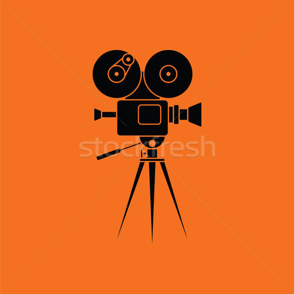 Stock photo: Retro cinema camera icon