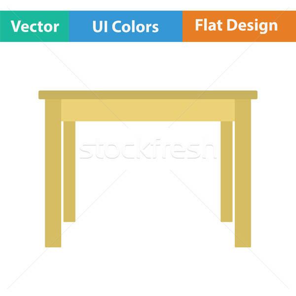 Ebédlőasztal ikon konyha asztal vacsora belső Stock fotó © angelp
