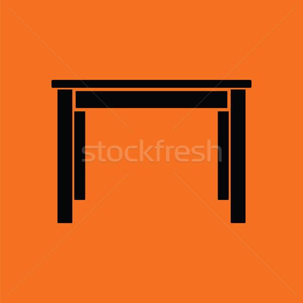 Yemek masası ikon turuncu siyah mutfak tablo Stok fotoğraf © angelp