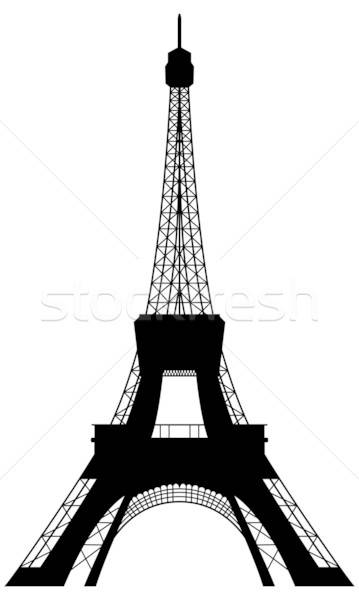 Tour Eiffel silhouette design bâtiment ville noir Photo stock © angelp