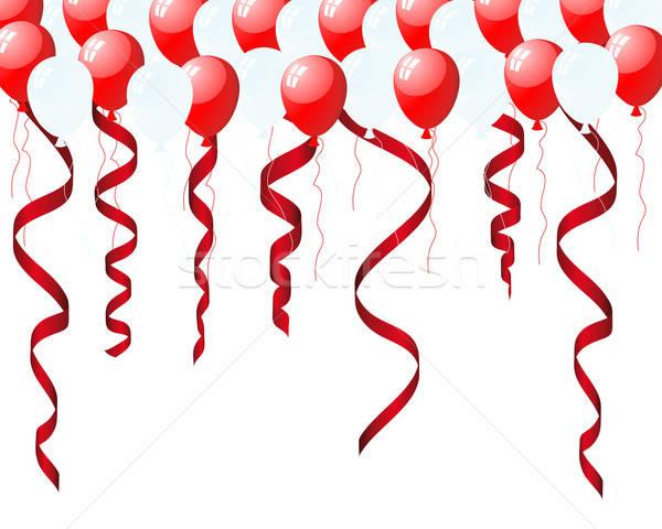 Balonlar güzel hava doğum günü arka plan eğlence Stok fotoğraf © angelp