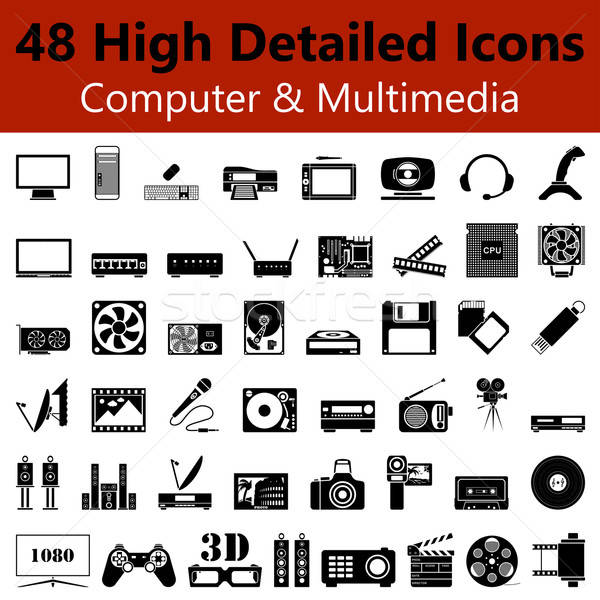 Computer and Multimedia Smooth Icons Stock photo © angelp