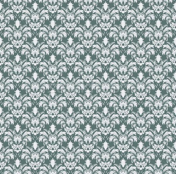 Bezszwowy adamaszek wzór wektora łatwe Zdjęcia stock © angelp
